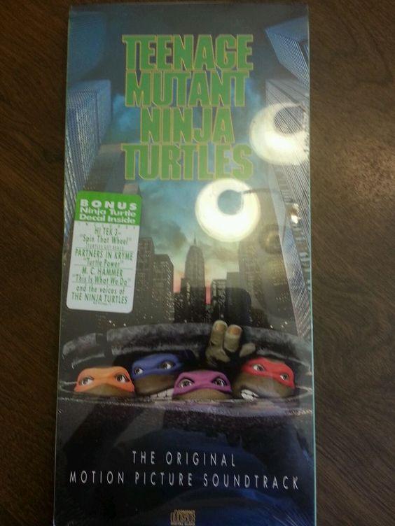 Teenage Mutant Ninja Turtles 1990 Soundtrack] by Original Soundtrack cd long box