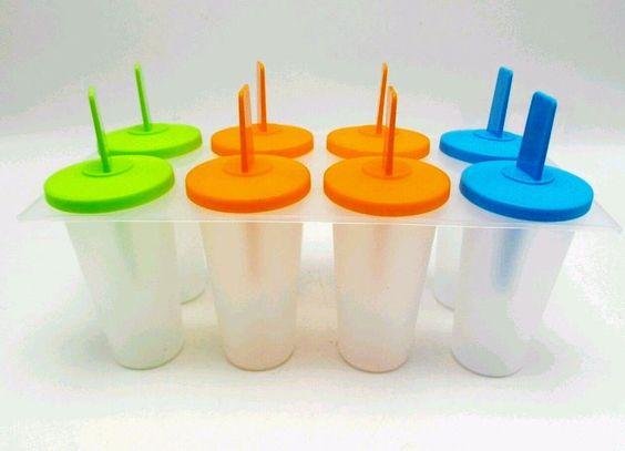 Ice Pop Popsicle Mold Maker Tray Frozen Dessert Treats Fruit Freezers 8 Cell New #Midwood