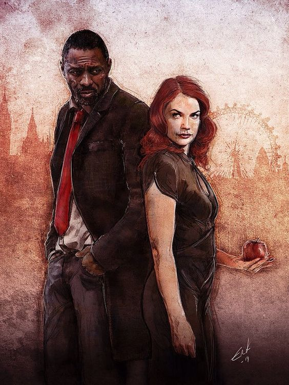 LUTHER BBC show Luther and Alice Idris Elba and by ErikWilsonArt