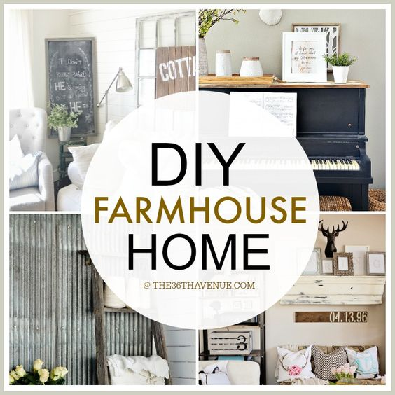 Home Interior Design Ideas Diy: Home Decor DIY Projects - Farmhouse Design