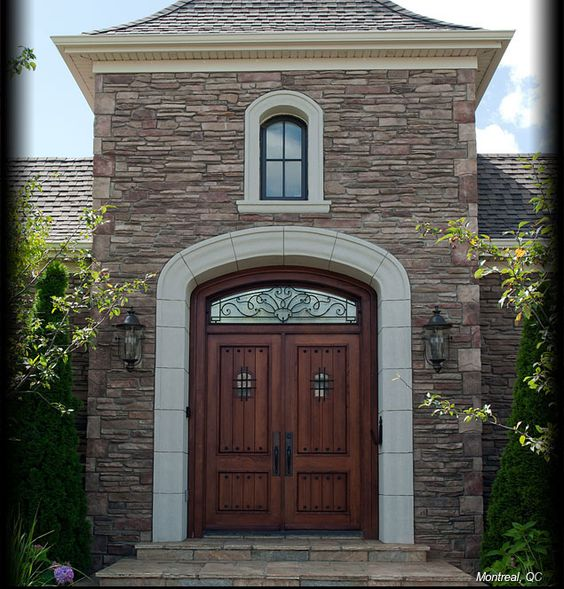 Cultured Stone Chardonnay Southern Ledgestone Exterior House Front Entrance Residential Like The