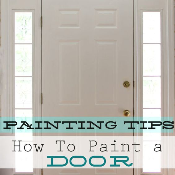 Door Painting - much needed right now!
