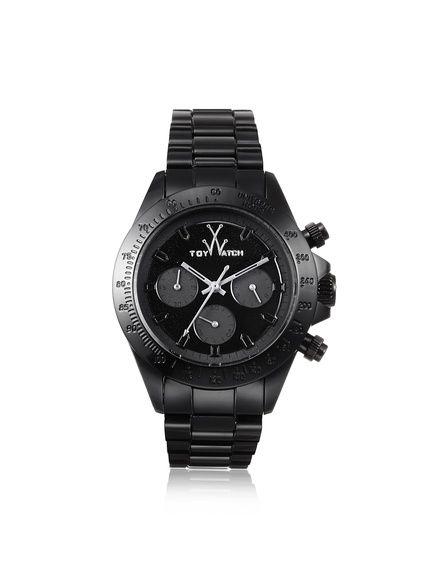 Toy Watch Women's MO08BK Monochrome Black Stainless Steel Watch