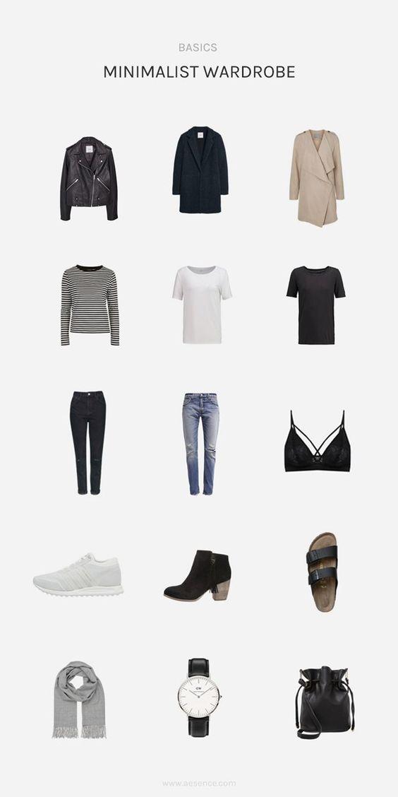 Minimalistische Basics, die sich einfach überall kombinieren lassen.