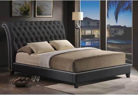 Tufted Velvet Platform Bed Modern Bed Upholstered Headboard