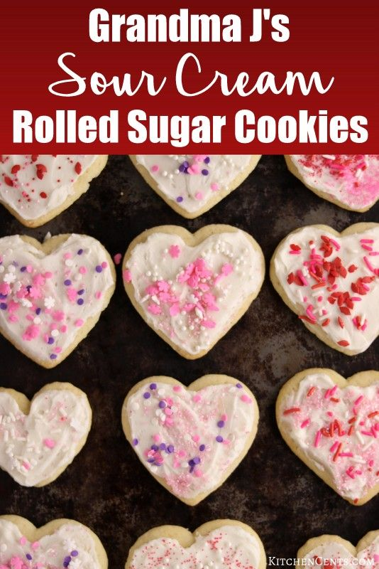 The Best Rolled Sugar Cookies With Buttercream Frosting Recipe Sour Cream Cookies Sour Cream Sugar Cookies Rolled Sugar Cookies