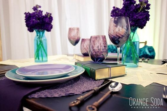 Purple And Teal Wedding Ideas