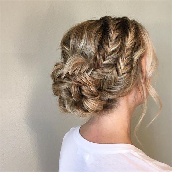 Braided Bridal Updo In 2020 Fancy Hairstyles Braided Hairstyles Updo Hair Styles