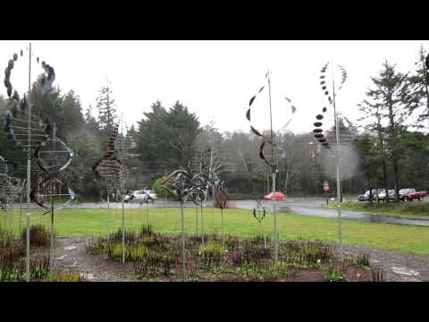 Wind Sculptures at the Freed Gallery in Lincoln City, Or