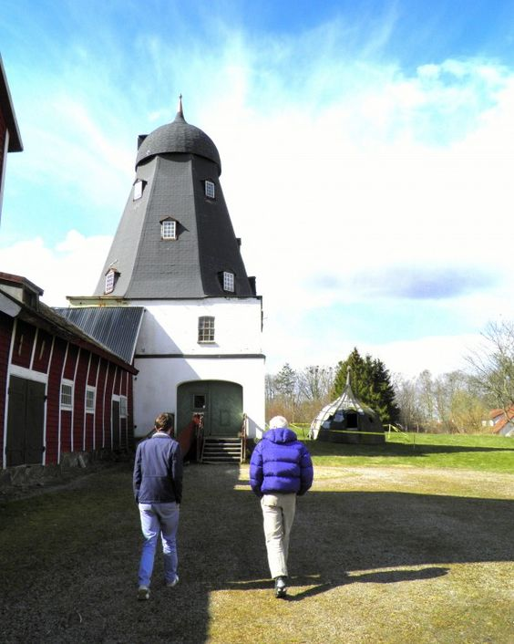 Kate, an American expat married to a Swede, sought out another expat woman (Ukrainian) married to a Swede, who is doing something rather interesting -- running an historic windmill, called Vollsjö Mill.