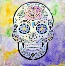 Resultado de imagem para caveira mexicana para pintar