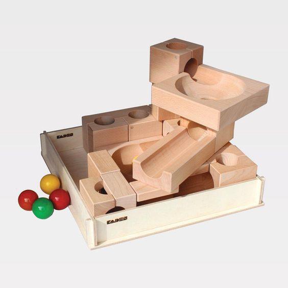 Kugelbahn Nr 01 Trichter Größe M aus Holz von Kaden | Echtkind