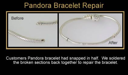 Customers Pandora Bracelet Had Snapped In Half We Soldered The Broken Sections Back Together To Repair The Bra Pandora Bracelet Jewelry Repair Doctor Jewelry