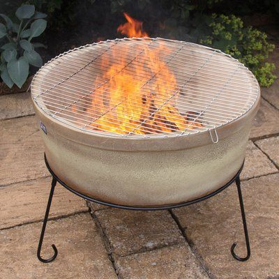 Ebern Designs Moscato Natural Gas Fire Pit Natural Gas Fire Pit Wood Burning Fire Pit Fire Bowls