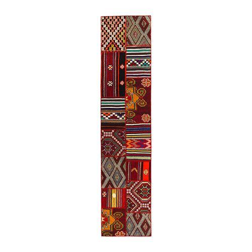 IKEA - SILKEBORG, Teppich flach gewebt, Ein einzigartiges Produkt, geschaffen aus Abschnitten antiker handgewebter Orientteppiche aus der Türkei.Die Teppichstreifen werden gewaschen, gefärbt und zu einem neuen, modernen Kunstwerk zusammengefügt.