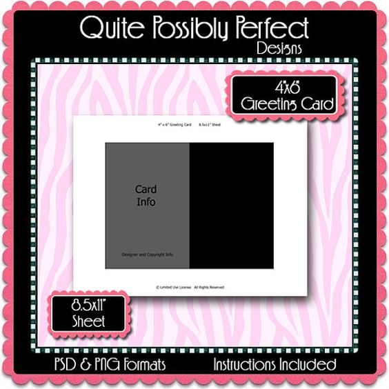 4x6 greeting card template instant download psd and png formats temp96 digital bottlecap. Black Bedroom Furniture Sets. Home Design Ideas