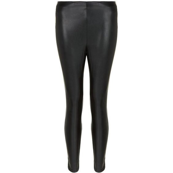 New Look Petite Black Coated Leggings (31 AUD) ❤ liked on Polyvore featuring pants, leggings, black, legging pants, petite pants, petite leggings and petite trousers