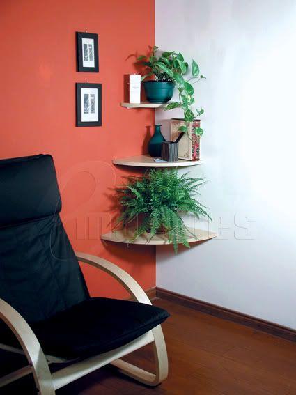 Estantes esquineros con soporte flotantes repisas mensula repisas flotantes pinterest - Imagenes de muebles esquineros ...