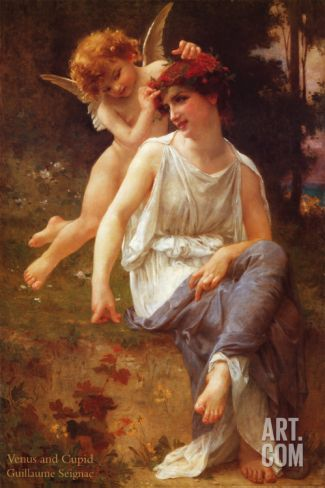 Venus and Cupid Print by Guillaume Seignac at eu.art.com