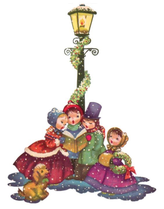 free clipart christmas carolers - photo #28
