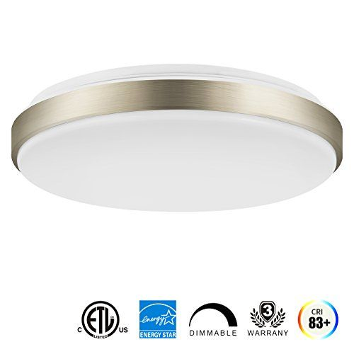 Lvwit Led Flush Mount Ceiling Light 15 Inch 22w 160w Equivalent Dimmable 1500 Lumens 3000k Soft White Ro Led Ceiling Lights Dining Room Lighting Ceiling Lights