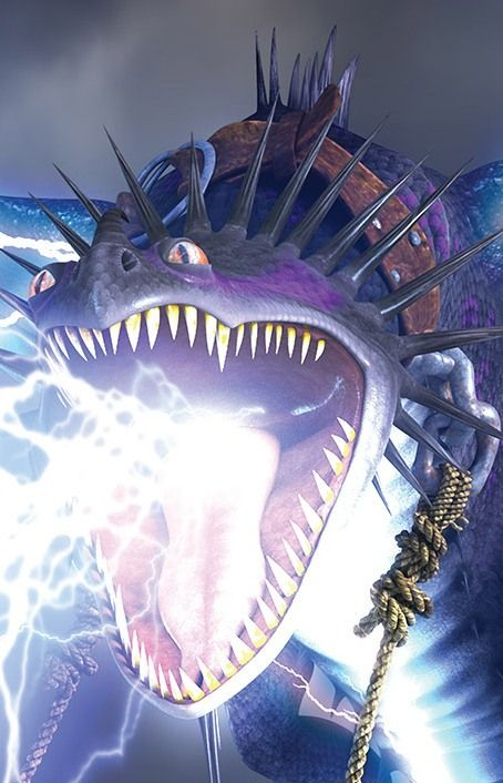"""Skrill is a strike class dragon first featured in the 2011 short film """"Book of Dragons."""""""