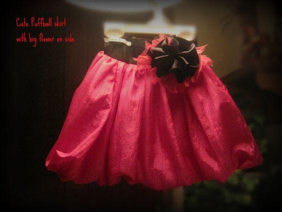 CUSTOM ORDER Puffball Skirt by janeylaughs on Etsy, $48.00