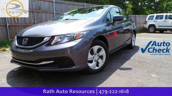2015 Honda Civic Sedan LX - Used Cars Fort Smith, Arkansas - Rath Auto — Rath…