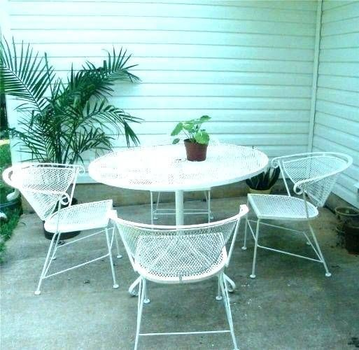 Lowes Outdoor Furniture Patio Wrought Iron Patio Set