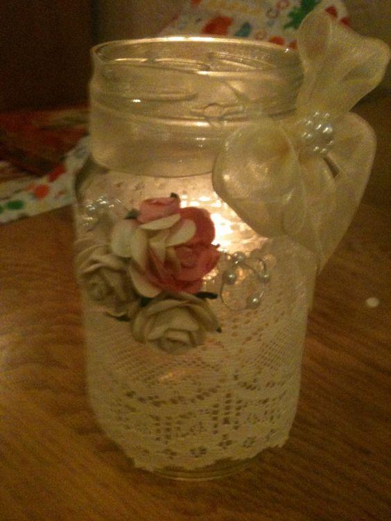 My daughters jars for her Lake District vintage wedding x