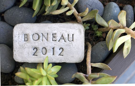 DYI Mini garden stones