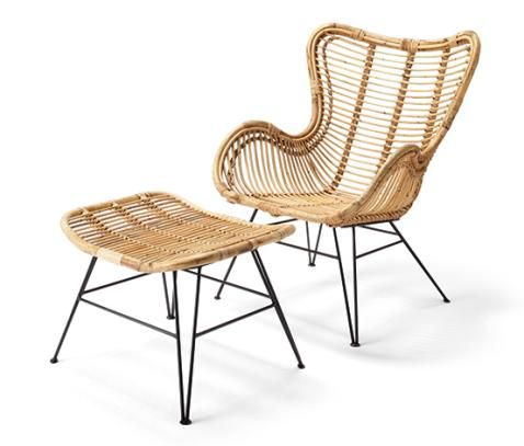 Rattansessel Mit Fusshocker Online Bestellen Bei Tchibo 348824 Rattansessel Ikea Balkonmobel Esszimmerstuhl
