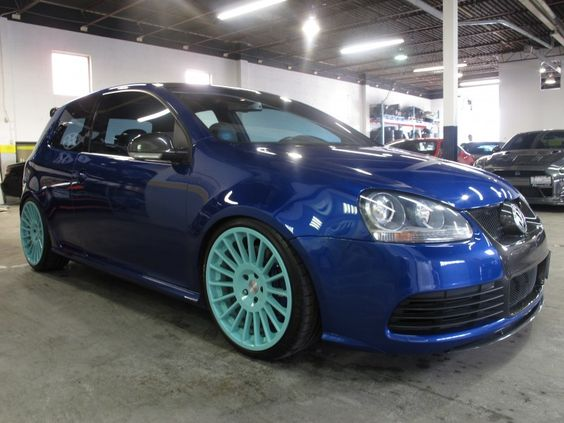 2008 Volkswagen Golf R32 Blue ROTIFORM RIMS SUNROOF NAVIGATION