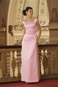 Modest bridesmaid dress long floor length maxi with cap sleeves from perfectbridesmaiddresses