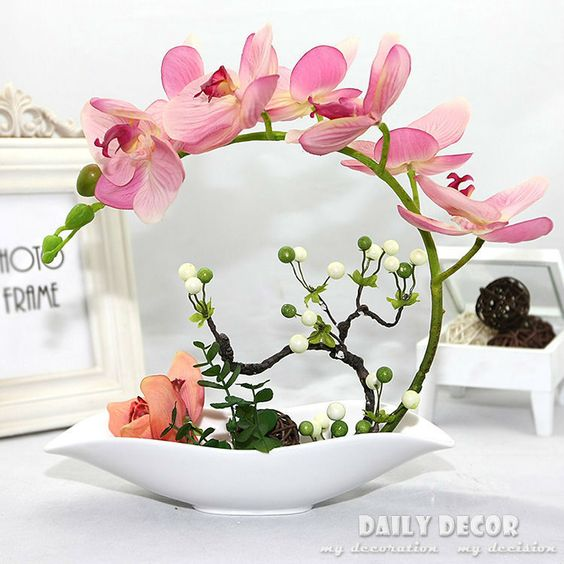 Cheap flower girl hair pieces, Buy Quality flower ideas directly from China flower felt Suppliers:     Big size and 88cm lengh floor type orchid flowers eidetic long stem artificial silk magnolias for lounge or wa