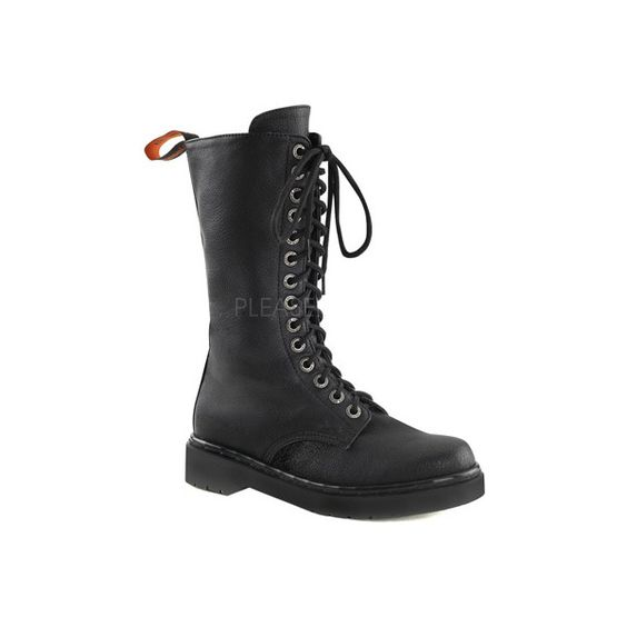 Women's Demonia Rival 300 Boot - Black Vegan Leather Combat Boots ...