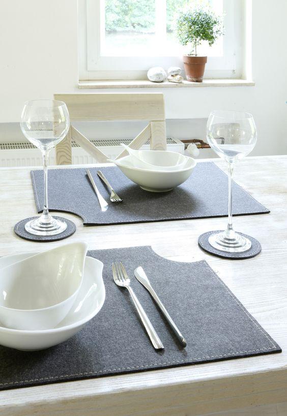 Tischsets aus Filz