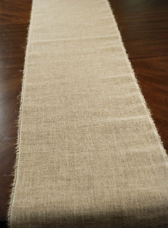 Burlap table runner 12 5 wide x 96in tables table for 12 ft table runner