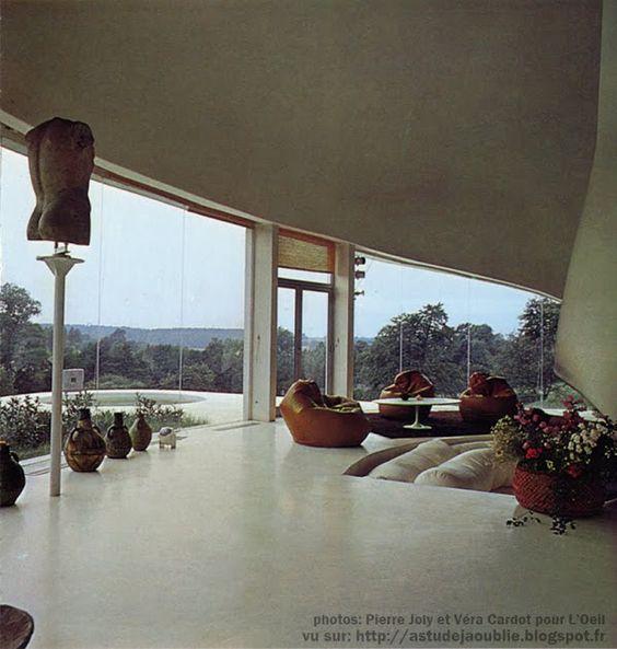 Sebourg - Maison Verley / maison-plante Sculpteur: Pierre Szekely. Architecte: Henri Mouette Construction: 1971-1972:
