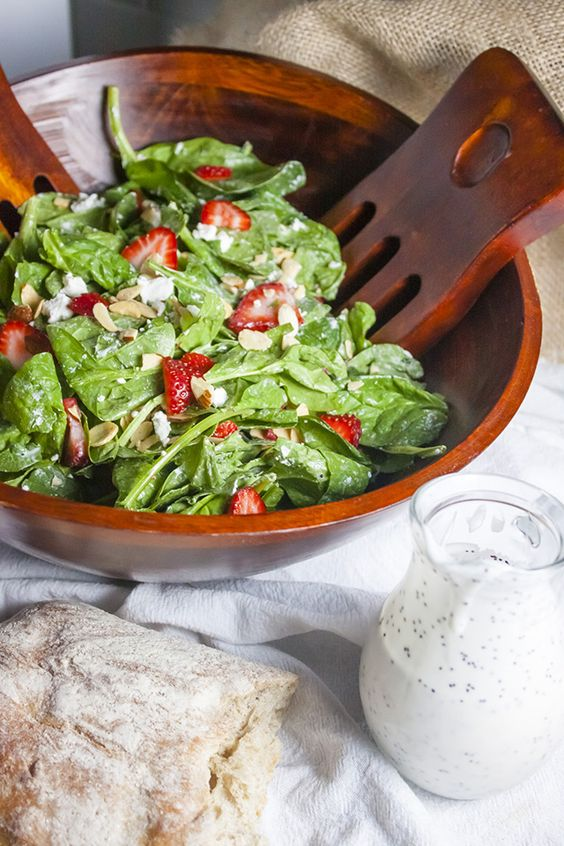 Goat cheese salad, Cheese salad and Poppy seed dressing on Pinterest