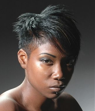 Awesome Black Women Razor Cut Hairstyles And Hairstyles On Pinterest Short Hairstyles Gunalazisus