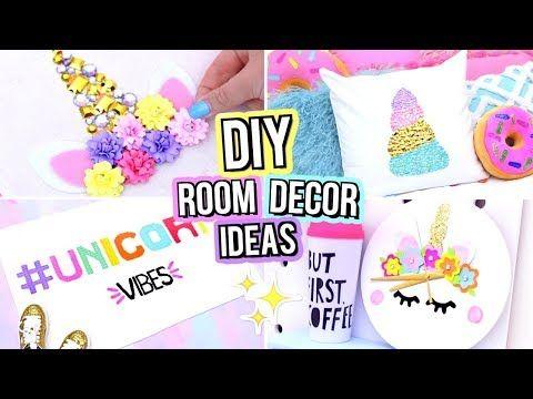 Diy Unicorn Room Decor For Teenagers Cute Diy Room Decor Ideas Youtube Unicorn Room Decor Cute Diy Room Decor Diy Room Decor For Girls Diy room decor ideas youtube