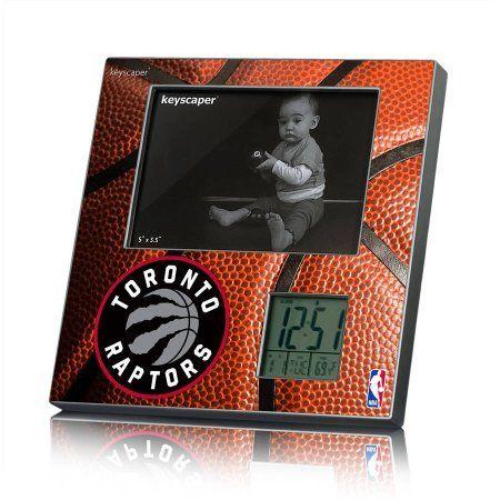 Toronto Raptors Basketball Design Picture Frame Clock by Keyscaper