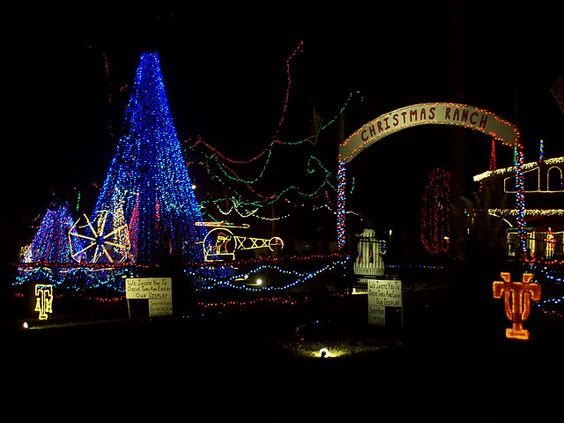 Christmas Ranch outside Cleveland TX, Amazing lights!