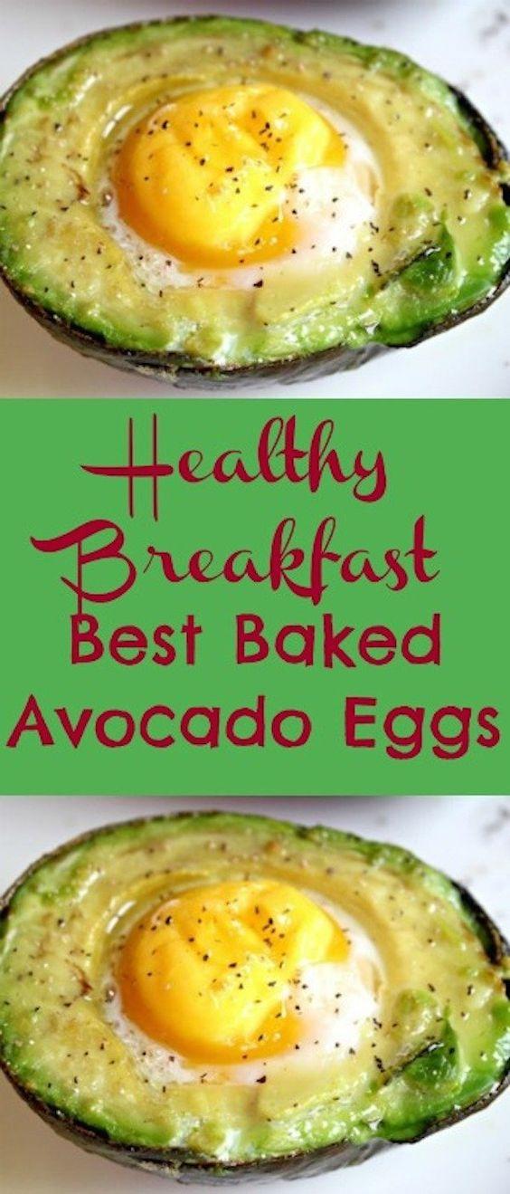 Best Breakfast Baked Avocado Eggs