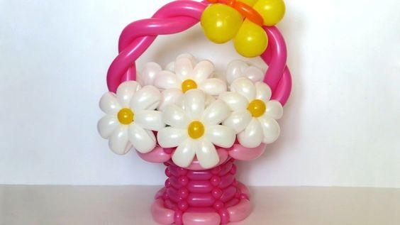 Basket of balloons tutorial