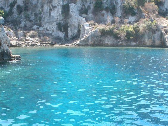 Blue water lagoon of the Adrasan Beach, Turkey