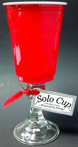 Red Solo Cup Wine Glass! Available in lots of fun Spring Colors!: Red Cups, Glass Solo, Wine Glass, Red Solo Cup, Glass Classy, Fun Spring