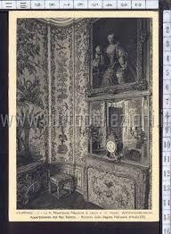 Cartolina di prima della seconda guerra mondiale che riproduce una saletta nell appartamento del re.Attualmente la tappezzeria alle pareti non e'piu'in loco e'andata perduta dopo il conflitto.Palazzina di caccia di Stupinigi,Piemonte.ITALIA.