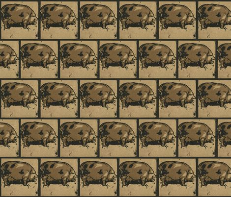 Pig fabric by zephyrus_books on Spoonflower - custom fabric